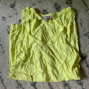 Juicy couture yellow tank top blouse flowy XS